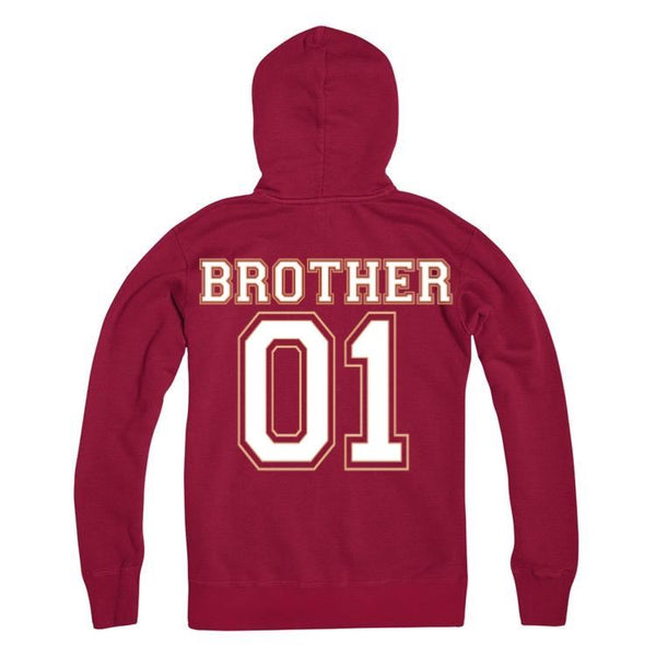 Personalised Number Brother Hoodie Kids And Adults