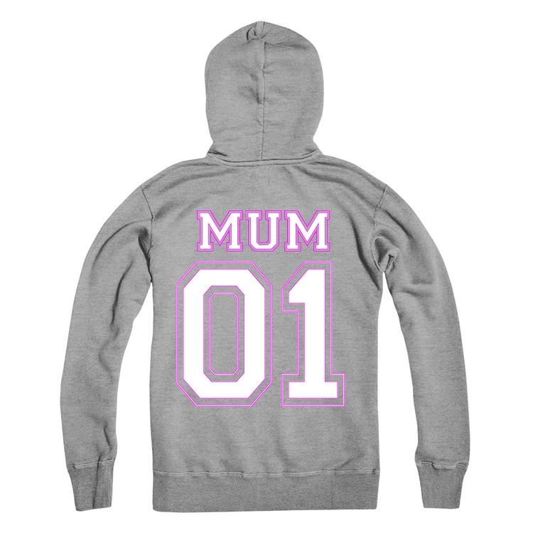 MUM Personalised Number Hoodie Adults