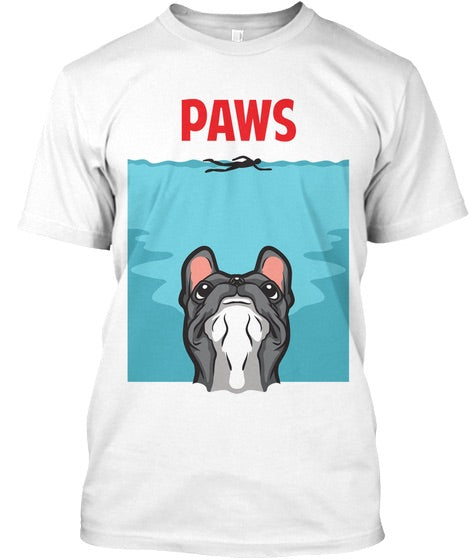 Paws.. french bulldog T-shirt - pure-cotton-shop