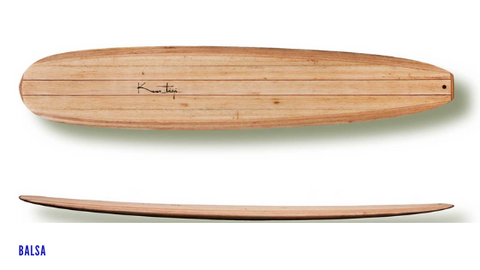 Surf long board made of Balsa wood (Kuntiqui)
