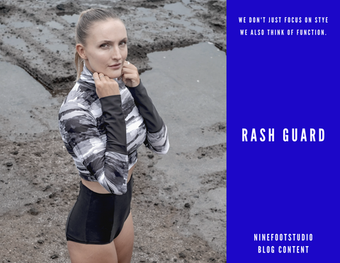 surfer wearing rash guard