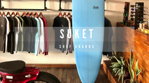 Suket surfboard shop in Batu Bolong