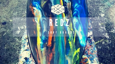Redz surfboard shop in Canggu, a redz custom board