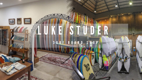 Luke Studer shop with massive collections of boards