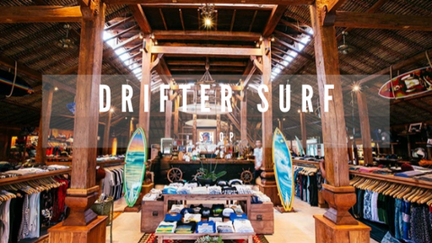 Drifter Surf shop showcasing their products
