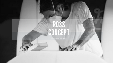Ross concept shaping surf board