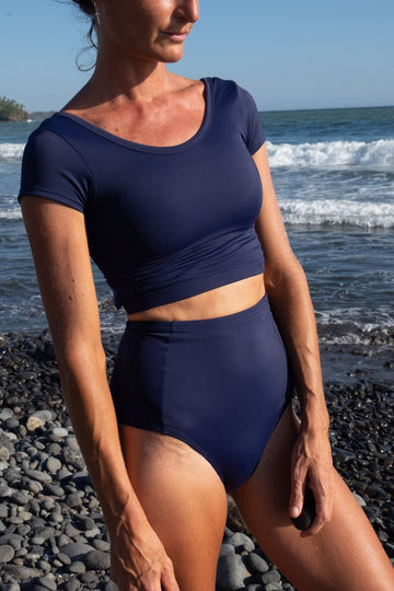 ninefoot rash guards Bingin Rashguard in Navy Blue