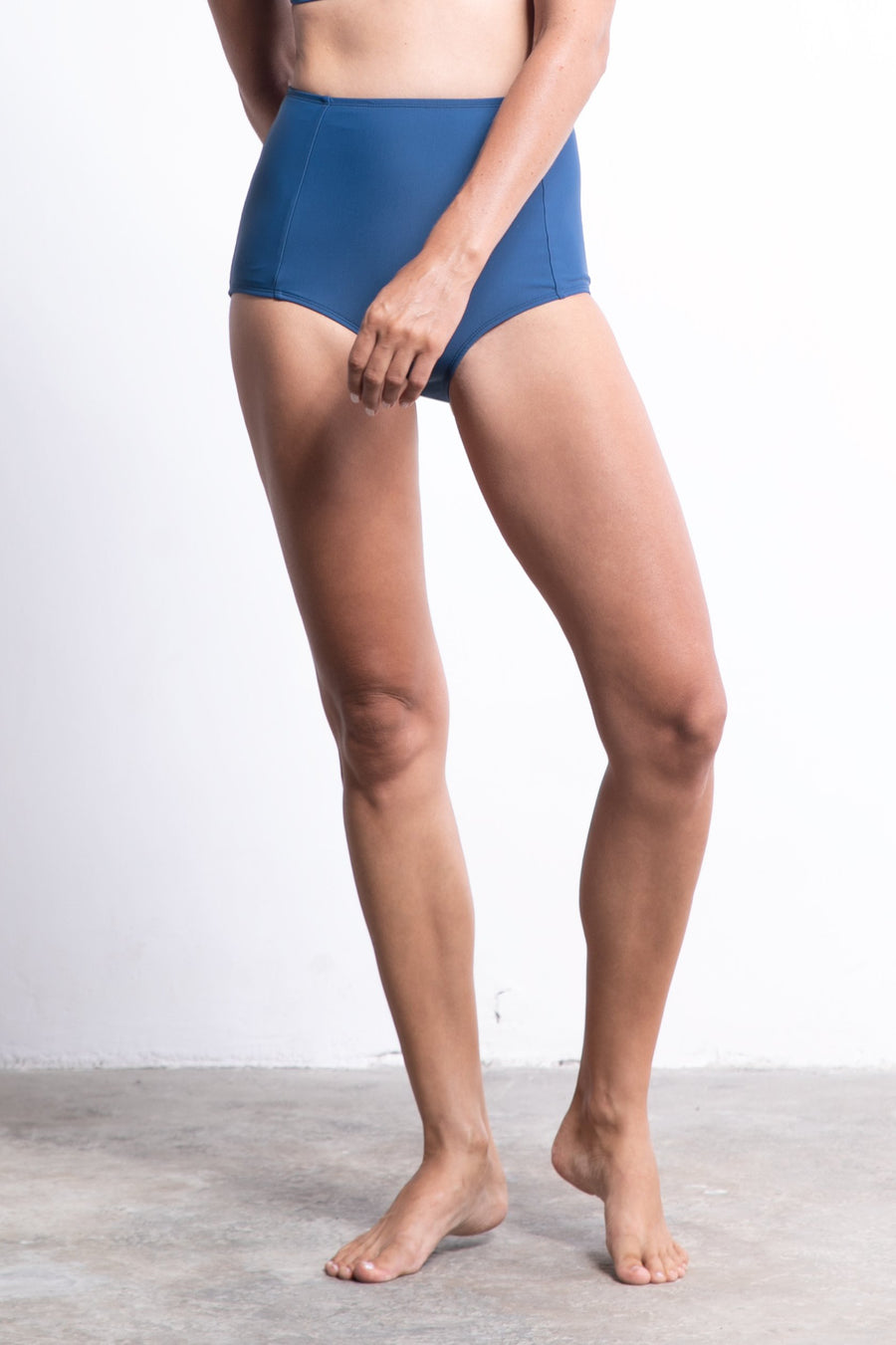 ninefoot Sanur women surf bikini bottom high waist blue