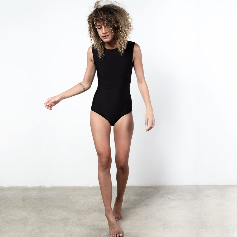 ninefoot One piece Kedungu surf swimsuit  Black