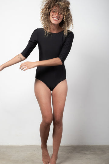 ninefoot One piece S Medewi longsleeve surf onepiece in Black