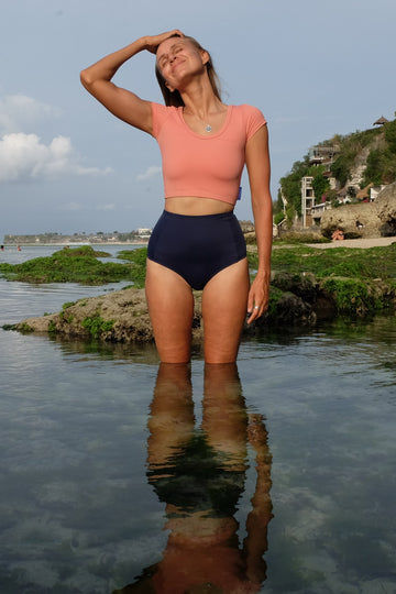 ninefoot rash guards Bingin Rashguard in Blush Pink