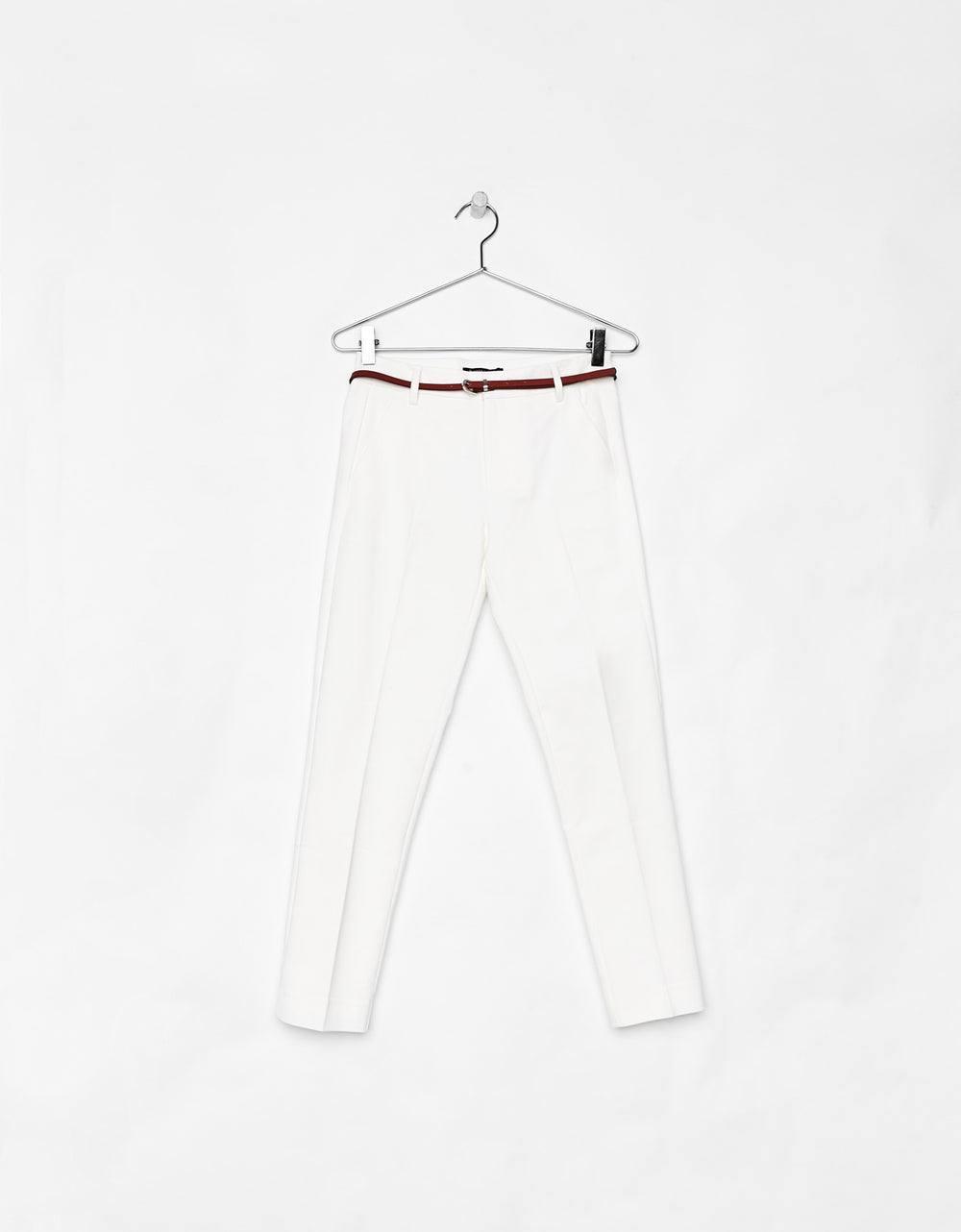 Belted chino trousers polo