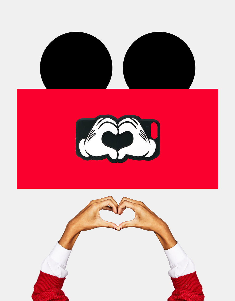 Mickey hands forming a heart iPhone 6plus
