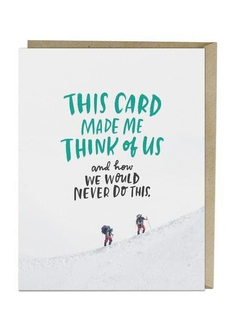 We Would Never Card - Tigertree