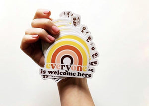 Everyone Is Welcome Here Sticker - Tigertree