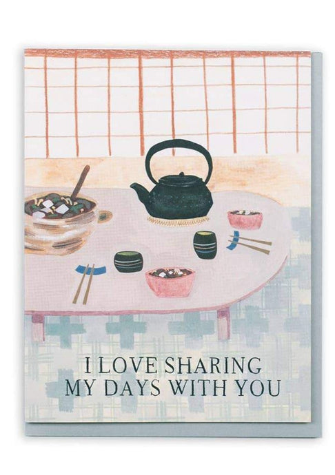 Sharing My Days Together Card - Tigertree