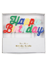 Load image into Gallery viewer, Multicolor Happy Birthday Candle