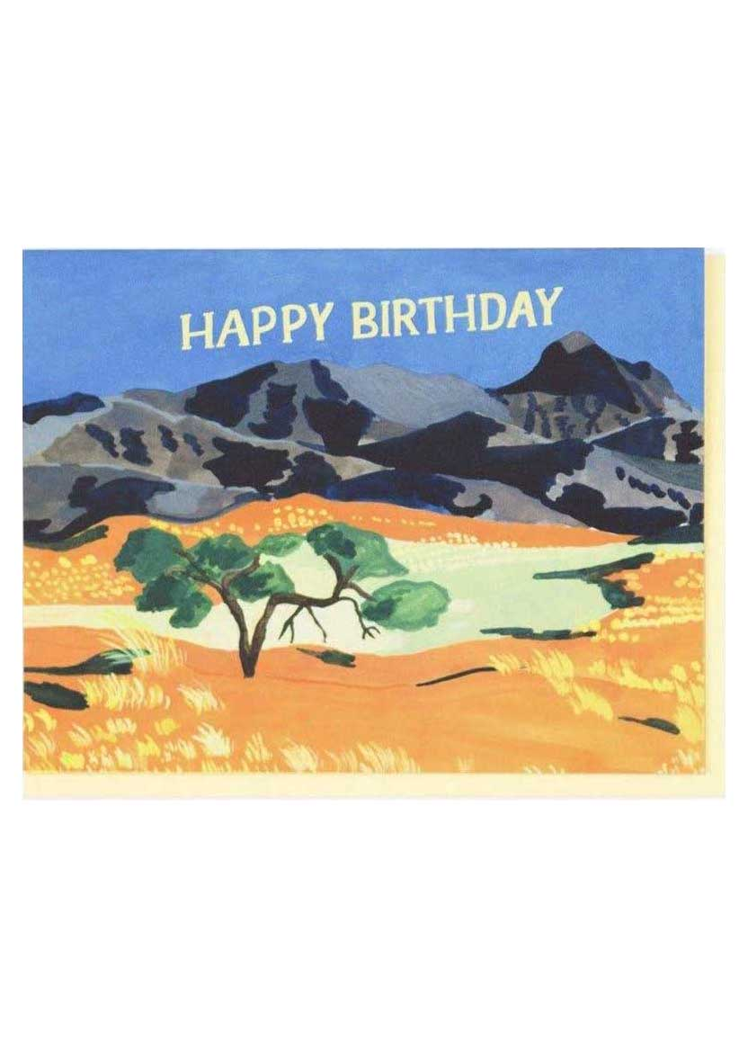 Orange Plains Birthday Card - Tigertree