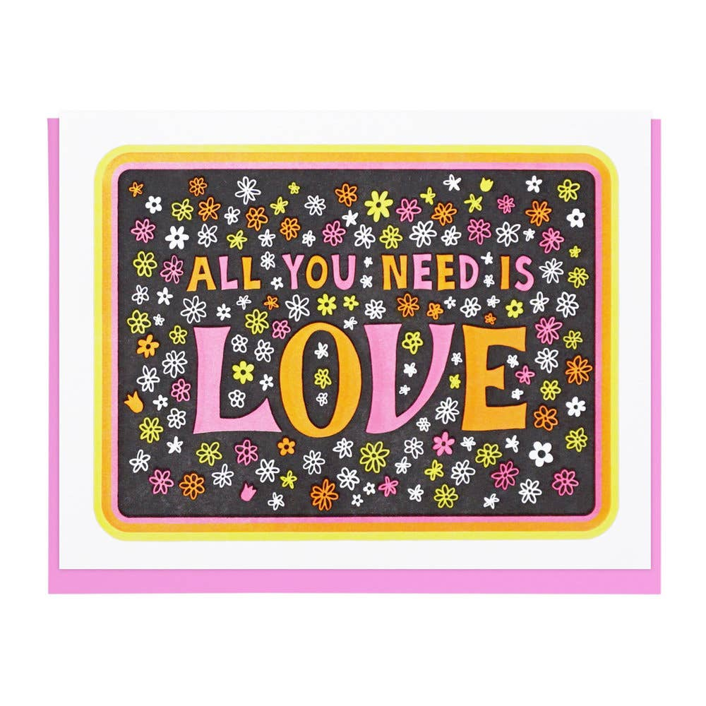 All You Need Is Love Flower Card - Tigertree
