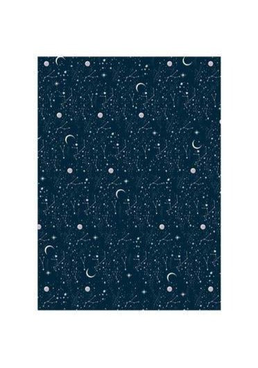 Moon and Stars Wrapping Paper - Tigertree