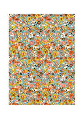 Groovy Bloom Wrapping Paper - Tigertree