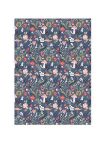 Forest Blue Wrapping Paper - Tigertree