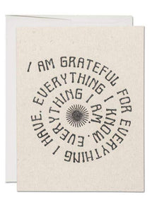 Grateful For Everything Card