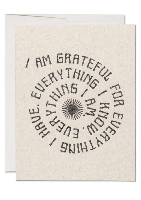 Grateful For Everything Card - Tigertree