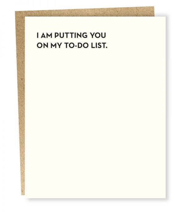 To Do List Card - Tigertree
