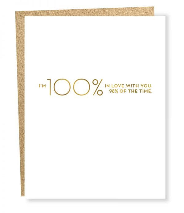 100% In Love Card - Tigertree