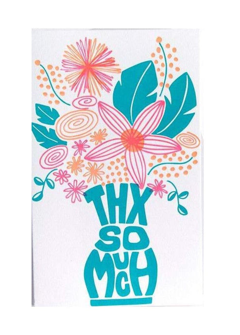 Floral Thanks Card - Tigertree