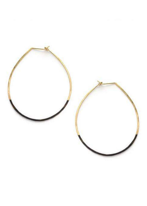 Mired Metal Circle Earrings - Tigertree