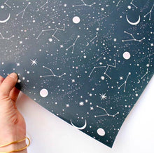 Load image into Gallery viewer, Moon and Stars Wrapping Paper - Tigertree