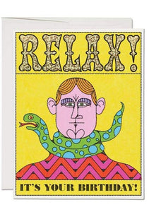 Relax Birthday Card - Tigertree