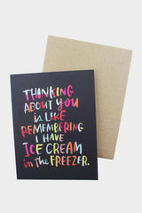 Ice Cream Freezer Love Card - Tigertree