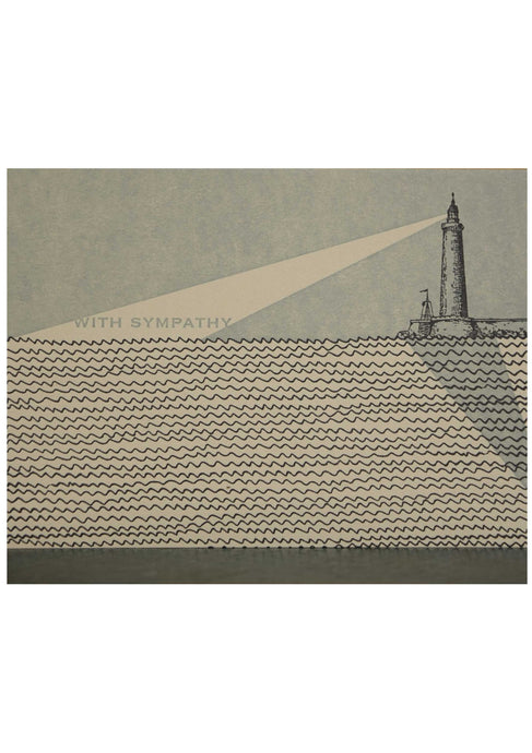 Lighthouse Sympathy Card - Tigertree