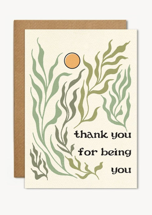 Thank You for Being You Card - Tigertree