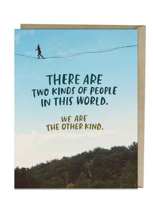 Two Kinds Of People Card - Tigertree