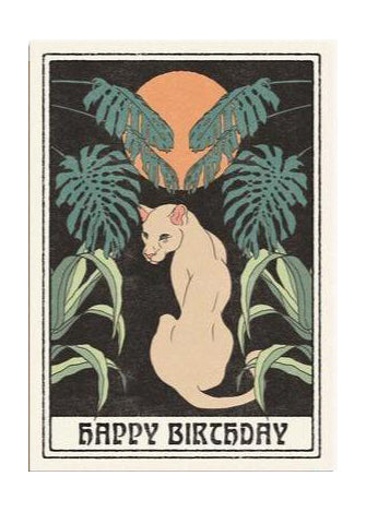 Happy Birthday Puma Card