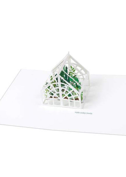 Green House Pop Up Card - Tigertree