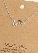 Load image into Gallery viewer, Hello Print Necklace Silver - Tigertree