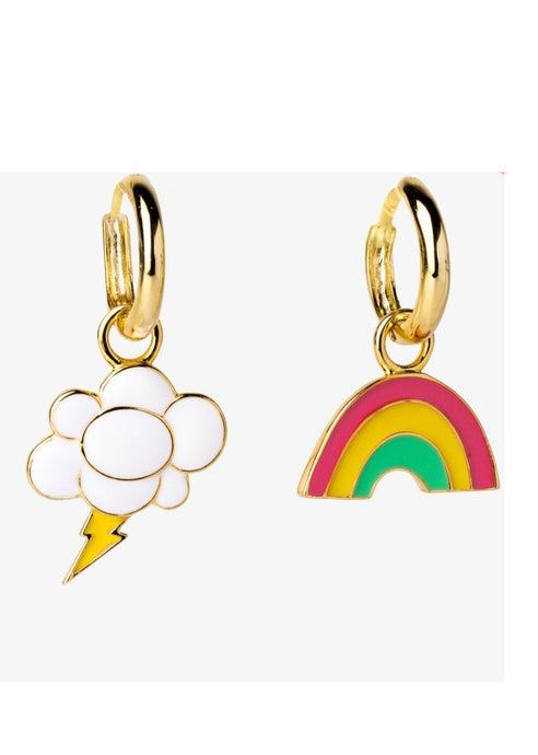 Rainbow and Cloud Earrings - Tigertree