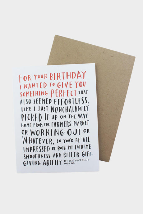 Awkward Birthday Card - Tigertree
