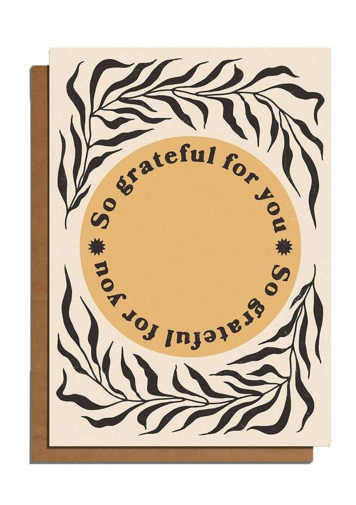 So Grateful For You Card - Tigertree