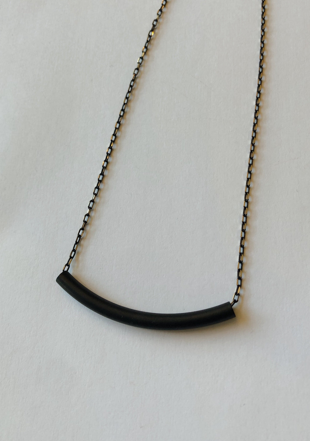 Tube Pure Matte Black Necklace - Tigertree
