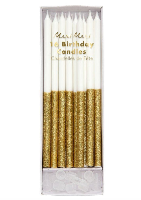 Gold Glitter Dipped Candles - Tigertree