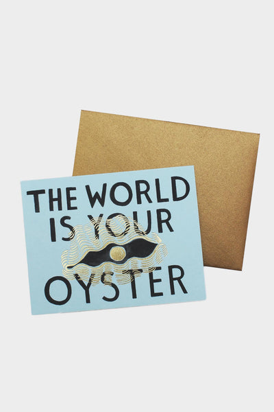 the world is your oyster card  tigertree