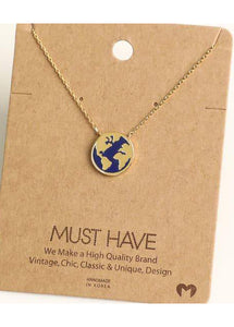 World Map Coin Necklace - Tigertree