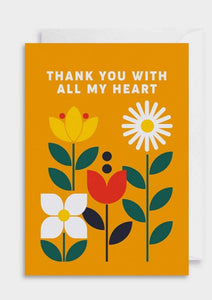 Thank You Greeting Card - Tigertree