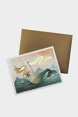 Mermaid Thank You Card - Tigertree
